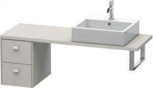 Brioso Low Cabinet For Console Compact, Concrete Gray Matt Decor Product Image