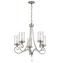 Lara Collection Lara 5 Light Chandelier - Classic Pewter