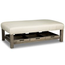Cocktail Ottoman with Removable Trays