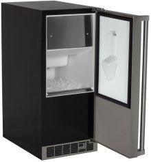 """15"""" Clear Ice Machine (Marvel Professional) - Solid Stainless Door, Right Hinge With Pump"""