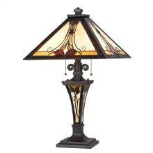 60W X 2 Tiffany Table Lamp