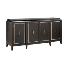 Lange 4-door Plateau Top Credenza With 3 Fixed Shelves