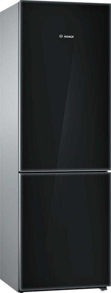 Bosch800 Series, Free-Standing Fridge-Freezer-Black Glass Door