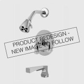 1900 Series Pressure Balance Tub and Shower Set with Harlow Handle (available as trim only P/N: 1.196068T)