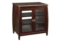 "30"" Wide Hi Boy, Solid Wood and Veneer In A Espresso Finish, Accommodates Most 37"" and Smaller Flat Panels"
