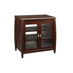 """30"""" Wide Hi Boy, Solid Wood and Veneer In A Espresso Finish, Accommodates Most 37"""" and Smaller Flat Panels"""