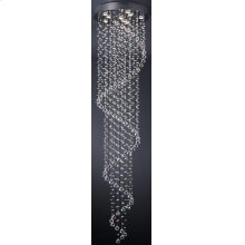 Crystal Ceiling Lamp, Chrome/crystals, Type Gu10 50wx9