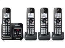 Link2Cell Bluetooth® Cordless Phone with Voice Assist and Answering Machine - 4 Handsets - KX-TGD564M