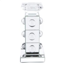 Mirrored Candle Holder Sm Mirror&lucite