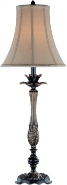 Table Lamp - Dark Bronze/tan Fabric Shade, Type A 100w Product Image