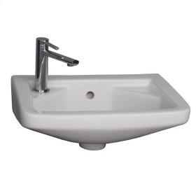 Caroline 380 Wall-Hung Basin - White