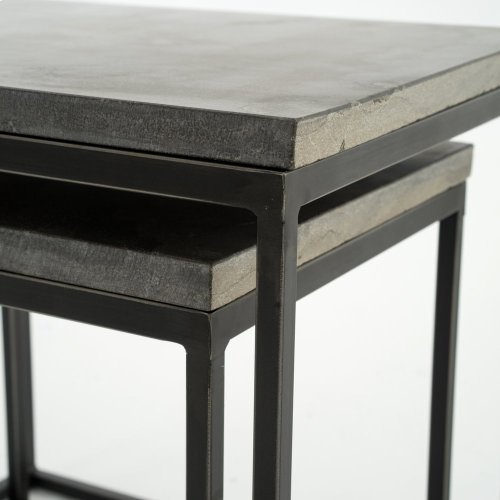 Bluestone Finish Harlow Nesting End Tables