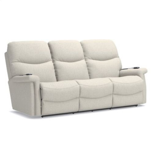 Baylor Power Wall Reclining Sofa w/ Headrest & Lumbar