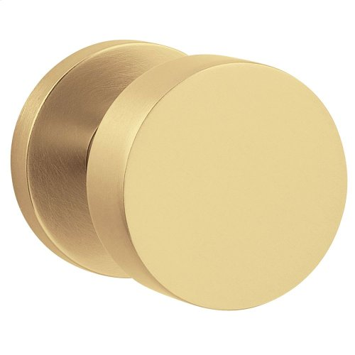 Satin Brass and Brown 5055 Estate Knob