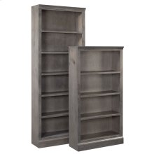 "72"" Ghost Black Bookcase"