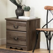 2-Drawer Nightstand - End Table with Storage - Fall Oak