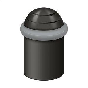 "Round universal Floor Bumper Dome Cap 2"", Solid Brass - Paint Black"