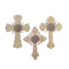 Mediterranean Tile Wall Cross (3 asstd)