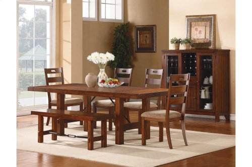 Dining Table with Two End Leaves
