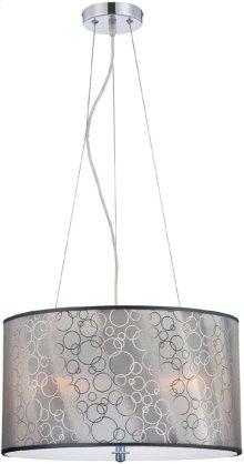 Ceiling Lamp, Chrome/silver 3D Vinyl Shade, E27 A 60wx3