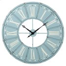 Sky Blue & White Roman Numeral Wall Clock Product Image
