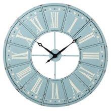 Sky Blue & White Roman Numeral Wall Clock