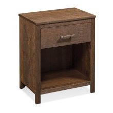 Sheffield Nightstand with Opening on Bottom