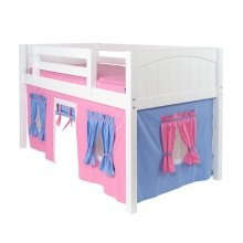 Under Bed Curtain : Hot Pink/Light Blue/Purple