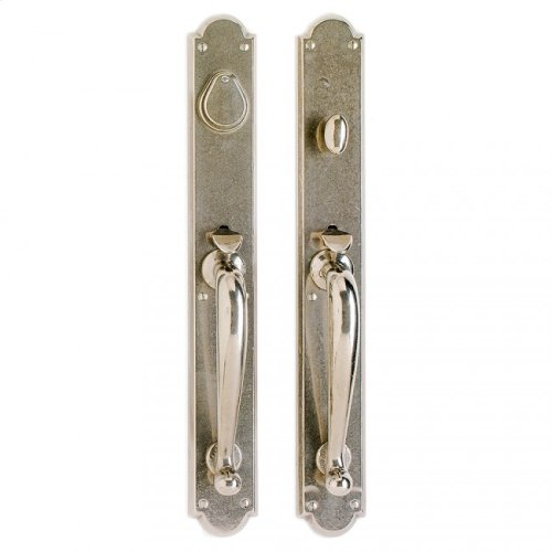 """Arched Entry Set - 2 3/4"""" x 20"""" Silicon Bronze Brushed"""
