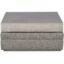 Boyden Ottoman with Wood Top 9084W-O