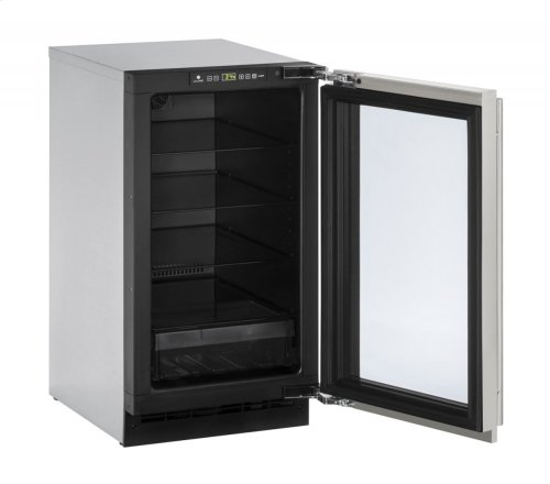 """2000 Series 18"""" Glass Door Refrigerator With Stainless Frame Finish and Field Reversible Door Swing (115 Volts / 60 Hz)"""