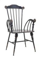 Trenton Black Metal Arm Chair Product Image