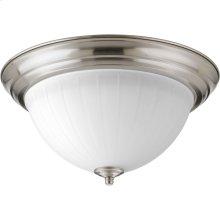 "One-Light 13-1/4"" Etched Ribbed Glass LED Flush Mount"