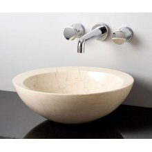 Polished Beveled Rim Sink Papiro Cream Marble
