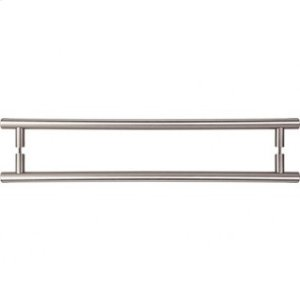 Hopewell Door Pull Back to Back 18 Inch (c-c) - Brushed Satin Nickel