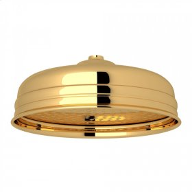 "English Gold Perrin & Rowe 12"" Rain Showerhead"