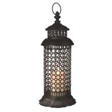 Large Ornate Geometric Pillar Lantern