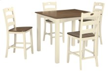 Square Counter Table & 4 Chairs