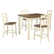 Woodanville Square Counter Height Dining Room Set: Table & 4 Chairs