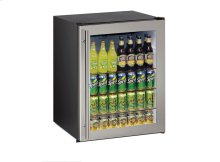 "Ada Series 24"" Ada Glass Door Refrigerator With Stainless Frame (lock) Finish and Field Reversible Door Swing (115 Volts / 60 Hz)"