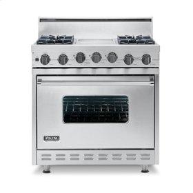 "Cobalt Blue 36"" Open Burner Self-Cleaning Range - VGSC (36"" wide range with four burners, 12"" wide char-grill, single oven)"