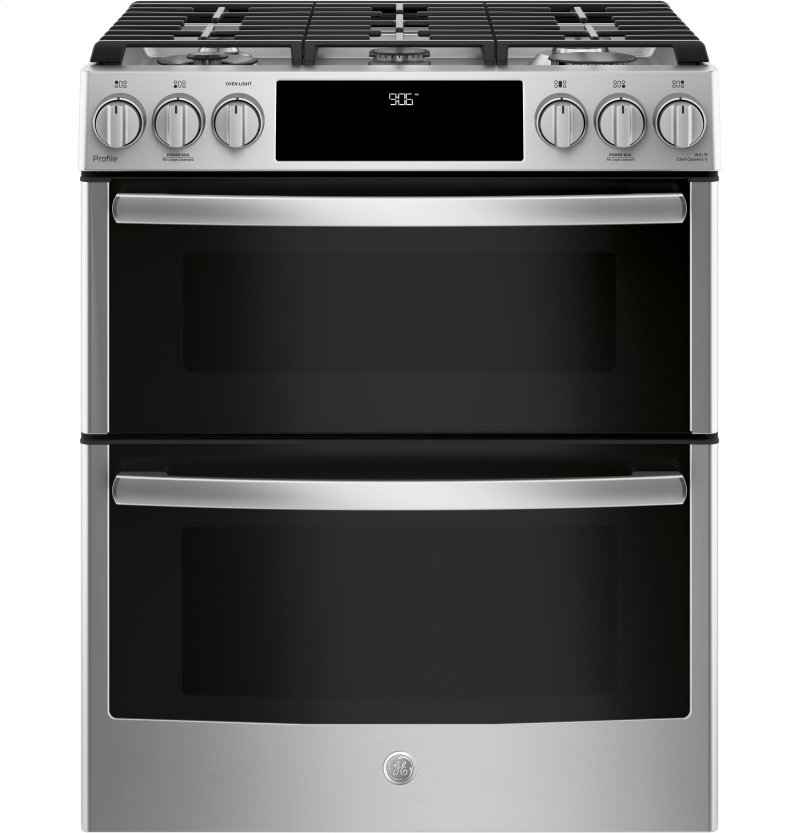Ge Profile Series 30 Slide In Front Control Gas Double Oven Convection Range