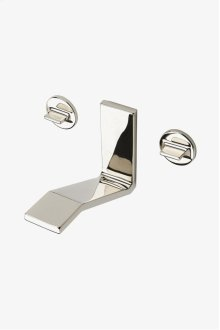 Formwork Low Profile Three Hole Wall Mounted Lavatory Faucet with Metal Knob Handles STYLE: FMLS60