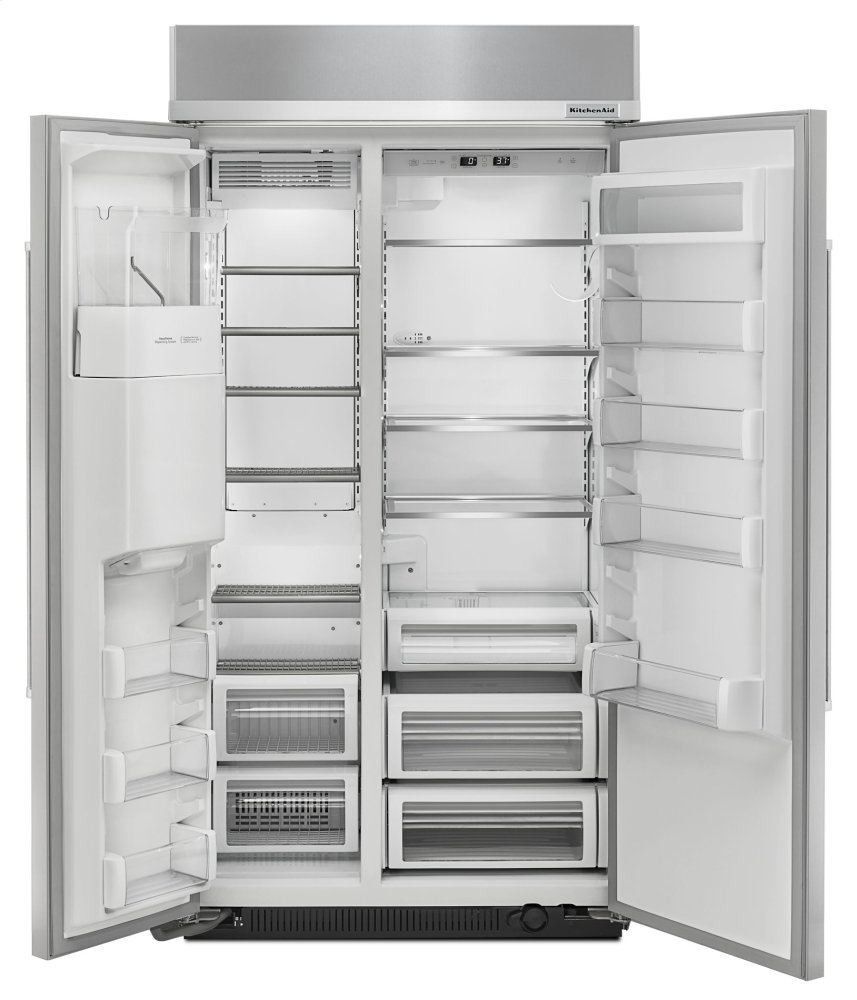Genial Ft 42 Inch Width Built In Side By Side Refrigerator   Stainless Steel