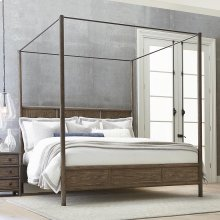 King/Burley Brown Peninsula Poster Bed