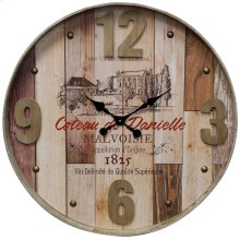 Wooden & Metal Wall Clock  31in X 31in X 3in