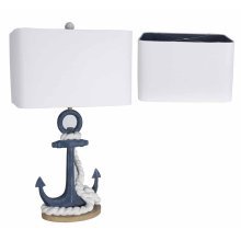 Navy Anchor Table Lamp