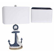 Navy Anchor Table Lamp