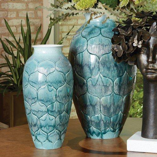 Lady Lo's Vase-Teal-Sm
