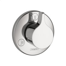 Chrome Diverter Trim S/E Trio/Quattro